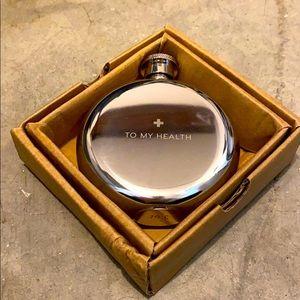Restoration Hardware 3 oz stainless steel Flask